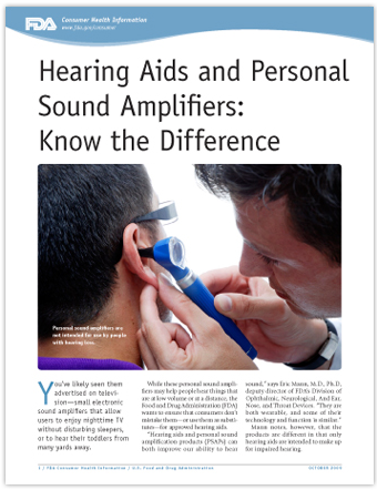 FDA Hearing Aid Guidance for Consumers