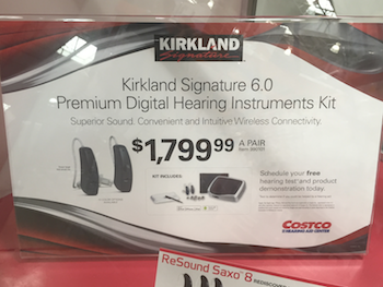 Costco Hearing Aid Display